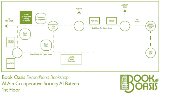 Book Oasis bookshop map
